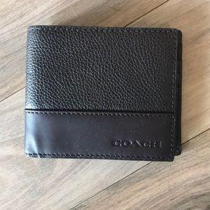 Men's Coach leather wallet